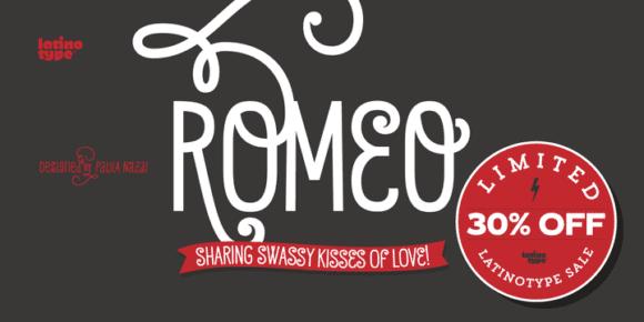 133330 580x290 - Font dňa – Romeo (zľava 30%, od 14,00 €)