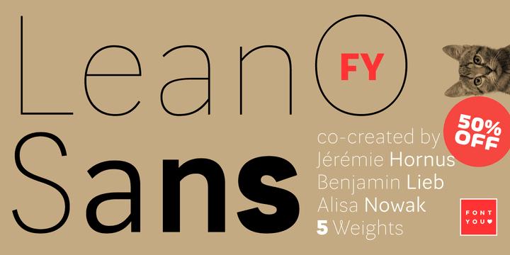 133674 - Font dňa – Lean-O Sans FY (zľava 50%, od 12,50 €)