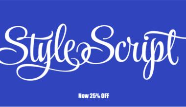 133945 380x220 - Font dňa – Style Script (zľava 25%, od 5,25 €)