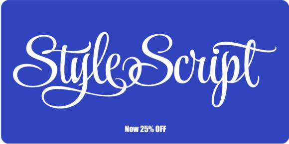 133945 580x290 - Font dňa – Style Script (zľava 25%, od 5,25 €)