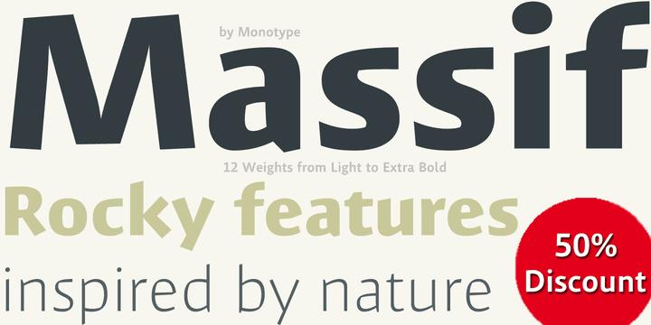 134476 - Font dňa – Massif (zľava 50%, od 17,50 €)