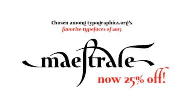 136406 380x220 - Font dňa – Maestrale (zľava 25%, rodina 31,50 €)