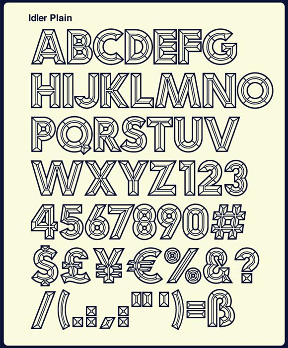 2ntfcx3 - Idler – kreatívna manipulácia s fontom