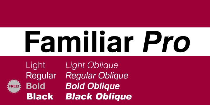59270 - Font dňa – Familiar Pro (zľava 80%, komplet 8€)