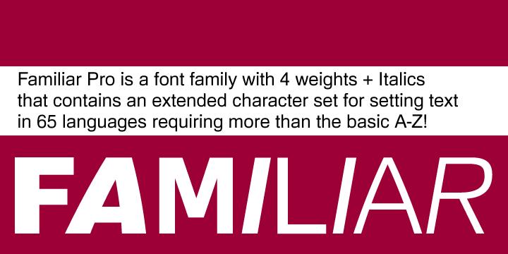59273 - Font dňa – Familiar Pro (zľava 80%, komplet 8€)