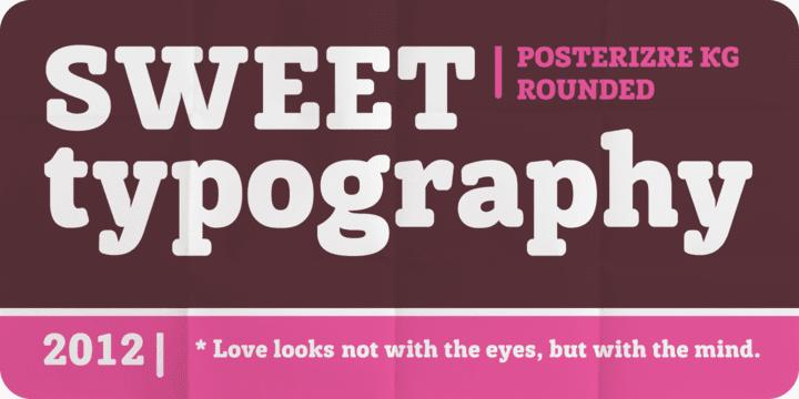 96071 - Font dňa – Posterizer Kg Rounded (zľava 50%, 14,00 €)