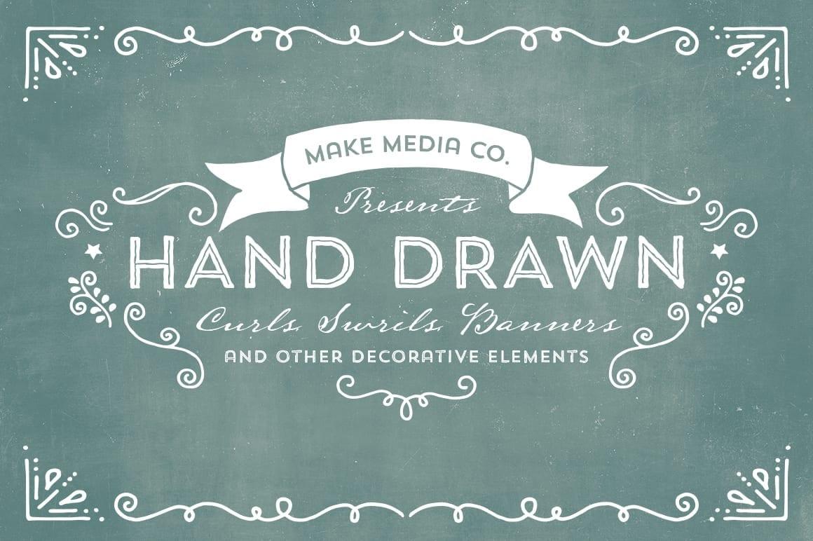 creativemarket swrillscurlsbanners comps o 1 - Retro Design Bundle – rozsiahla kolekcia za 39 dolárov