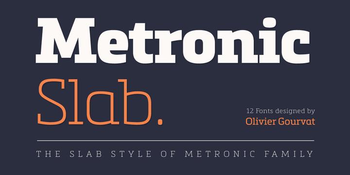 123459 - Font dňa – Metronic Slab Pro (zľava 75%, rodina 44,00€)