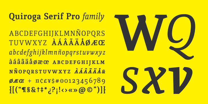 124355 - Font dňa – Quiroga Serif Pro (zľava 80%, od 5€)