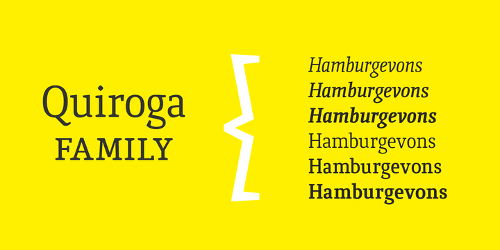 124362 - Font dňa – Quiroga Serif Pro (zľava 80%, od 5€)
