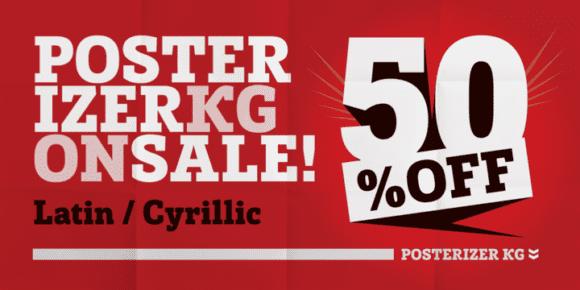 136381 580x290 - Font dňa – Posterizer KG (zľava 50%, 16,50€)