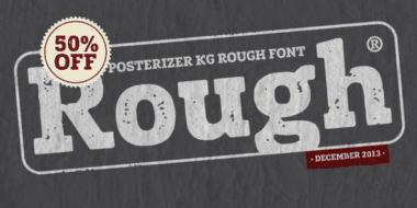 136504 380x190 - Font dňa – Posterizer KG Rough (zľava 50%, 10,00 €)