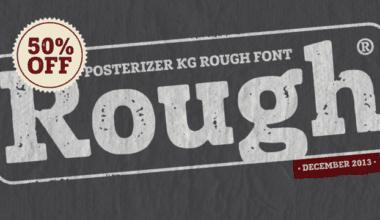 136504 380x220 - Font dňa – Posterizer KG Rough (zľava 50%, 10,00 €)