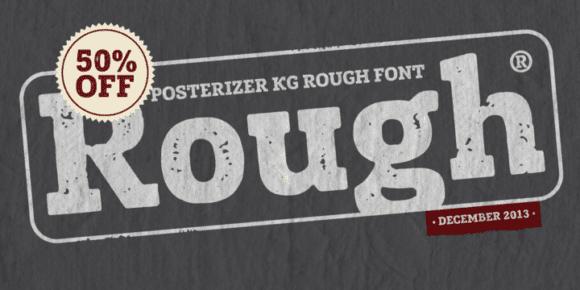 136504 580x290 - Font dňa – Posterizer KG Rough (zľava 50%, 10,00 €)