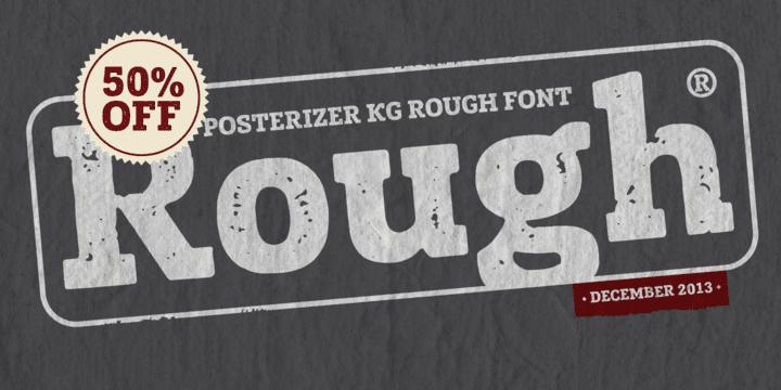 136504 - Font dňa – Posterizer KG Rough (zľava 50%, 10,00 €)