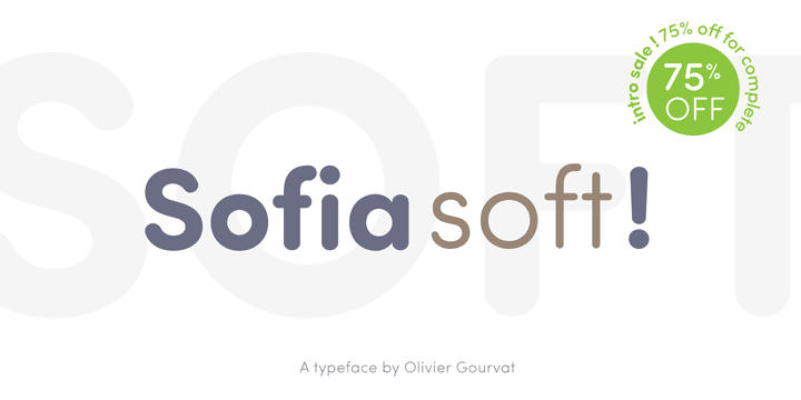 137191 - Font dňa – Sofia Pro Soft (zľava 75%, rodina 21,75€)