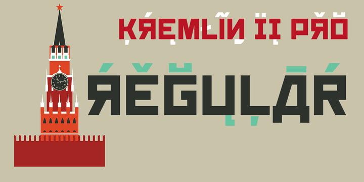 137253 - Font dňa – Kremlin II Pro (zľava 50%, komplet 16,00 €)