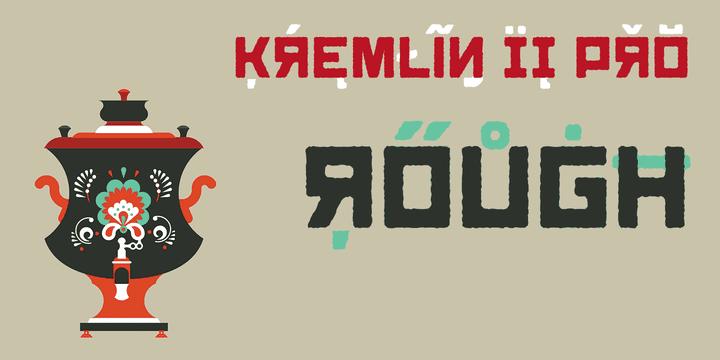 137254 - Font dňa – Kremlin II Pro (zľava 50%, komplet 16,00 €)