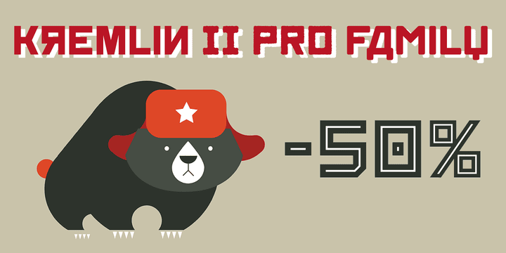 137435 - Font dňa – Kremlin II Pro (zľava 50%, komplet 16,00 €)