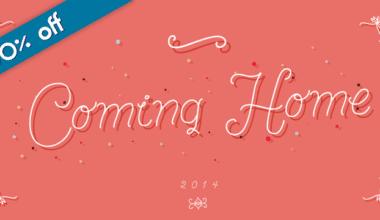 137474 380x220 - Font dňa – Coming Home (zľava 30%, od 10,50 €)