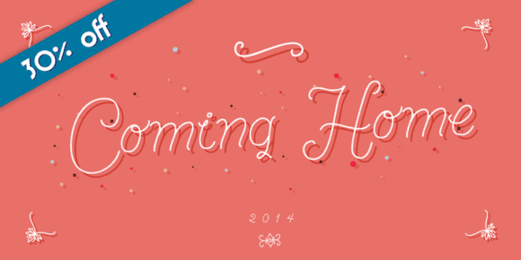 137474 580x290 - Font dňa – Coming Home (zľava 30%, od 10,50 €)