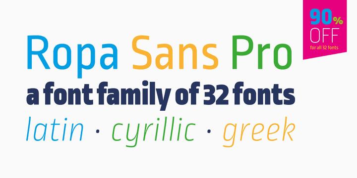137822 - Font dňa – Ropa Sans Pro (zľava 90%, rodina 20,30 €)