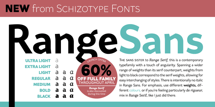 137911 - Font dňa – Range Sans (zľava 60%, rodina 34,00 €)