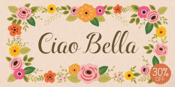 138039 580x290 - Font dňa – Ciao Bella (zľava 30%, od 6,99 €)