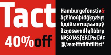 138376 380x190 - Font dňa – Tact (zľava 40%, 13,79 €)