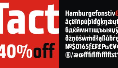 138376 380x220 - Font dňa – Tact (zľava 40%, 13,79 €)