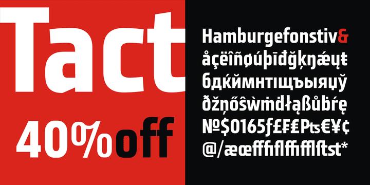 138376 - Font dňa – Tact (zľava 40%, 13,79 €)