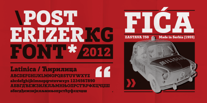 90439 - Font dňa – Posterizer KG (zľava 50%, 16,50€)