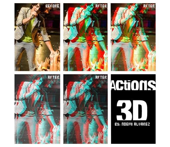 ACTION 3D by JonasFan931 - 3D akcie pre Photoshop zadarmo