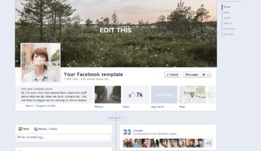 Facebook Profile 380x220 - Social Kit – dizajn pre sociálne siete jednoduchšie