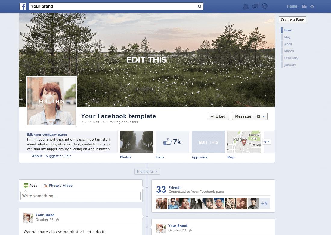 Facebook Profile - Social Kit – dizajn pre sociálne siete jednoduchšie