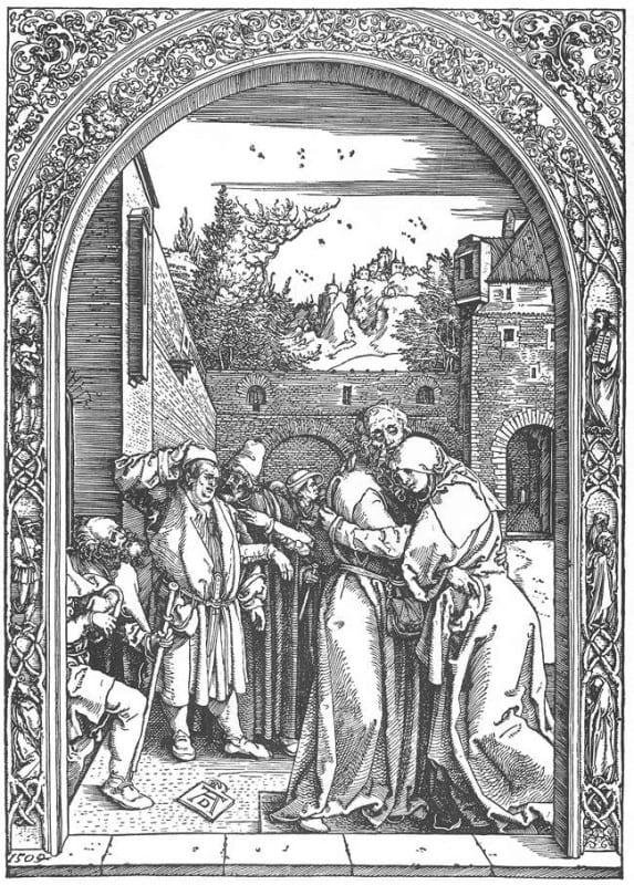 Stretnutie Joachima a Anny pri Zlatej bráne, 1504