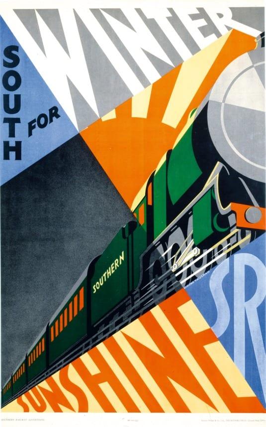 02wintersunshine - Zlaté časy Britských železníc na plagáte