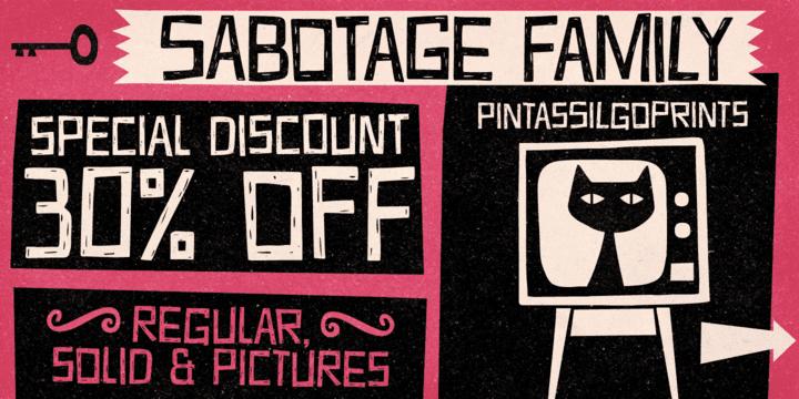 117077 - Font dňa – Sabotage (zľava 30%, rodina 21,69€)