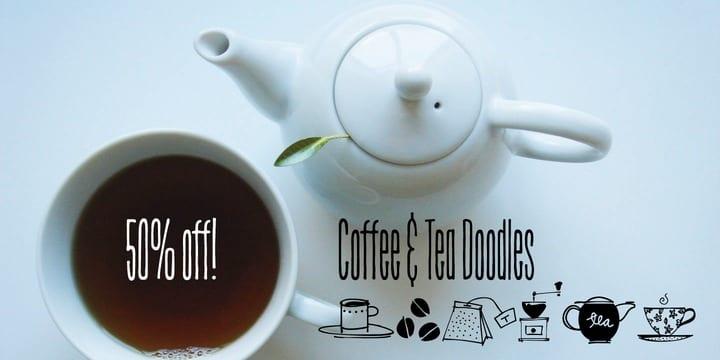 137239 - Font dňa – Coffee & Tea Doodles (zľava 50%, 9,50 €)
