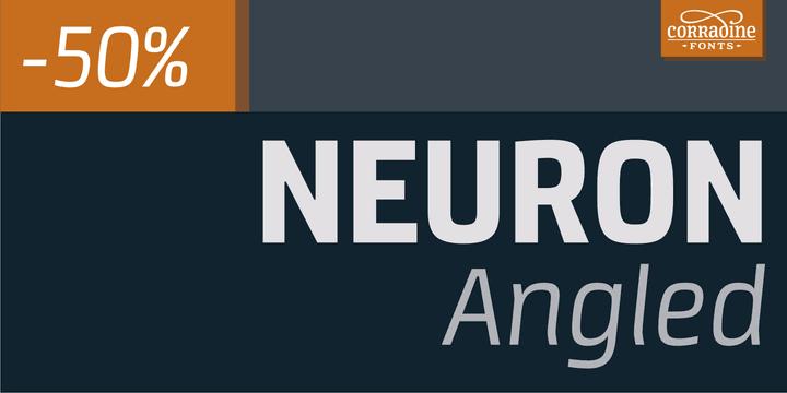 138937 - Font dňa – Neuron Angled (zľava 50%, od 10,00€)