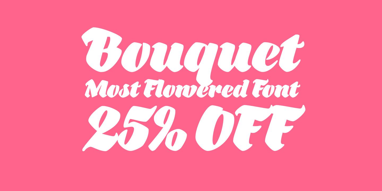 140951 - Font dňa – Bouquet (zľava 25%, 19,49€)
