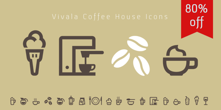 141702 - Font dňa – Vivala Coffee House Icons