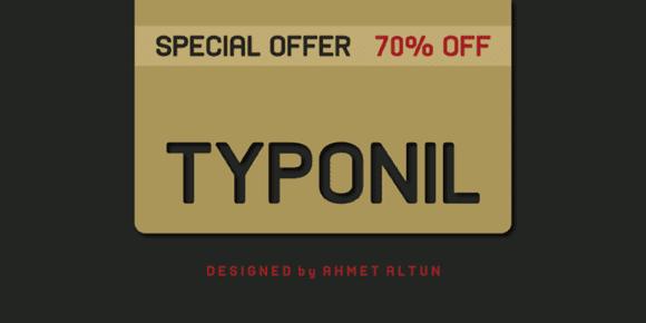 105415 580x290 - Font dňa – Typonil (zľava 70%, od 5,70€)