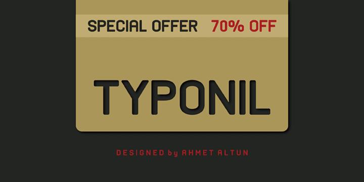 105415 - Font dňa – Typonil (zľava 70%, od 5,70€)