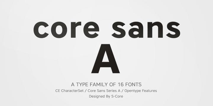 142008 - Font dňa – Core Sans A (zľava 80%, od 3€)