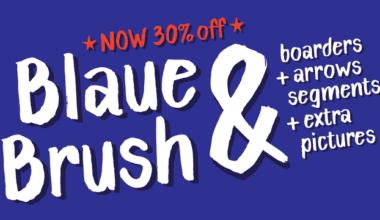143052 380x220 - Font dňa – Blaue Brush (zľava 30%, 13,29€)