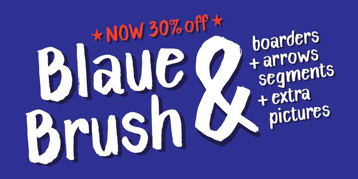 143052 - Font dňa – Blaue Brush (zľava 30%, 13,29€)