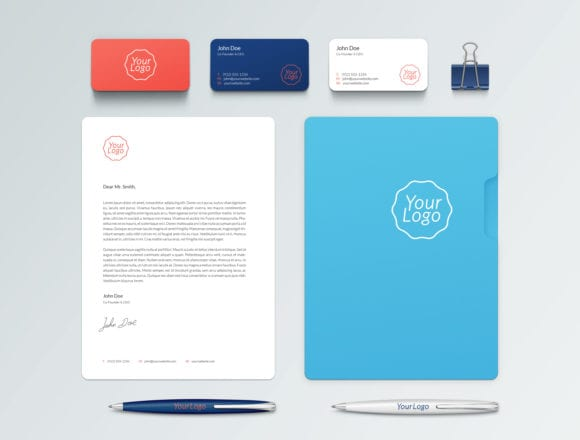 Branding Identity Mockup full1 580x440 - Branding / Identity MockUP zadarmo