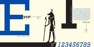 cover - Egyptian. Tie pätky dajme takto – dejiny typografie VIII.