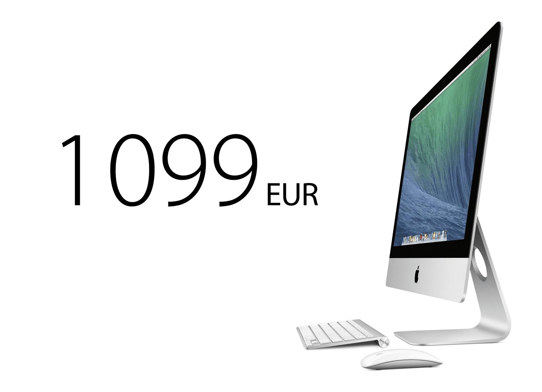 iMac21 wMouse Mavericks PRINT - Nový 21,5 palcový iMac len za 1 099 EUR?
